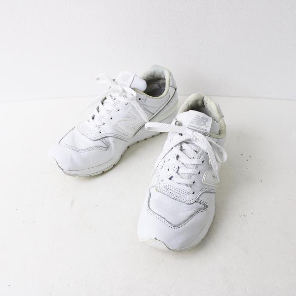 new balance ニューバランス MRL996EW セグメントラインホワイトレザースニーカー 24.0/ホワイト 靴【2400011890177】