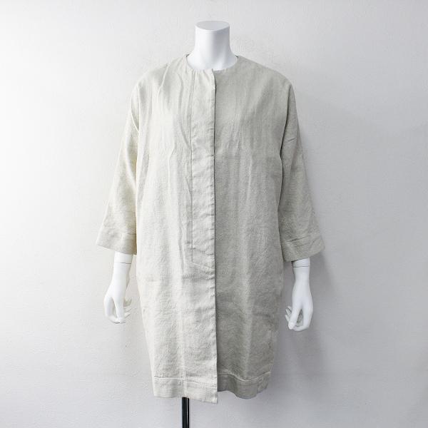 2018SS 春夏 定価4.3万 evam eva エヴァムエヴァ E181T074 linen cotton dolman coat ドルマン コート 2【2400011890856】