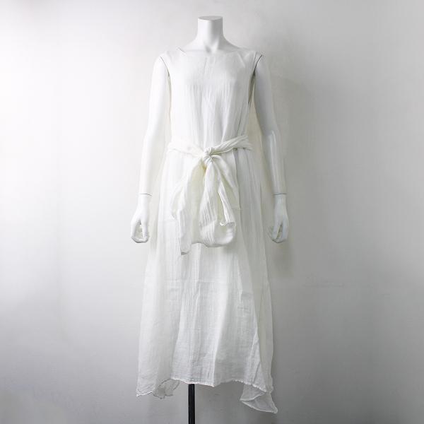 R&D.M.Co- オールドマンズテーラー リネン ガーゼ プルオーバードレス S/ホワイト ワンピース【2400011897954】