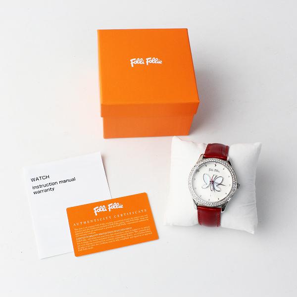 Folli Follie フォリフォリ WF9A036SP バタフライ エナメル 腕時計/レッド 小物【2400011899194】