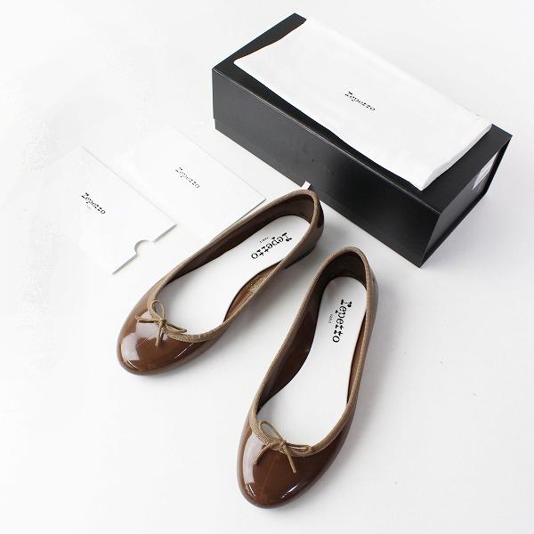極美品 repetto レペット Cendrillon Baby サンドリオン ベイビー ラバー バレエシューズ 39/ブラウン 24.7cm 靴【2400011901699】