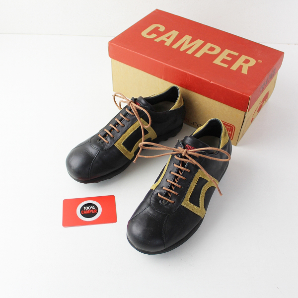 CAMPER カンペール レースアップレザースニーカー 36/ブラック シューズ【2400011902122】