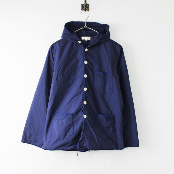 ura morikage shirt Kyoto ウラ モリカゲシャツ 京都 コットン ナイロン フード ジャケット 2/ネイビー【2400011902252】