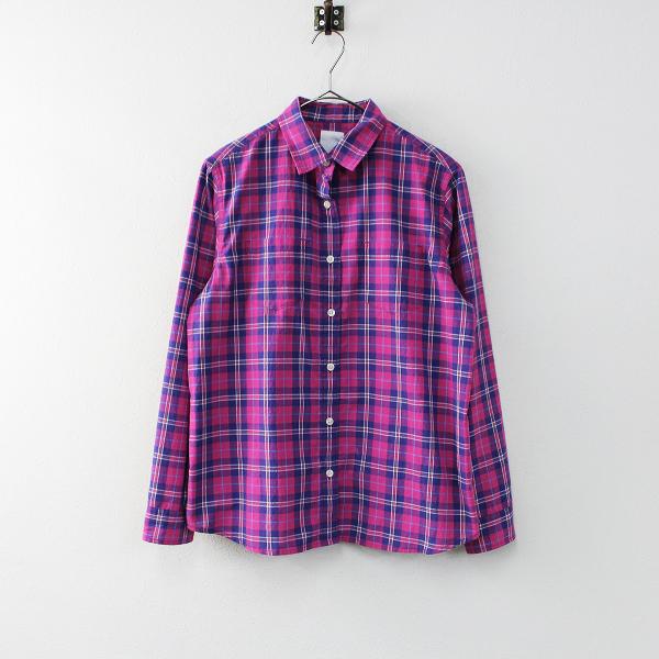 THE NORTH FACE ノースフェイス NRW11712 LS MUIR WOODS SH チェックシャツ L/ピンク タータン【2400011902573】