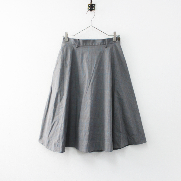 45R フォーティーファイブ コットン チェック フレア スカート 2/グレー ジップ 膝丈 ボトムス 45rpm【2400011903631】