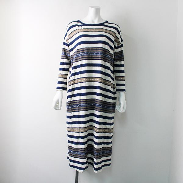 2018 45R フォーティーファイブ 45rpm ナバホボーダーのドレス 0/インディゴ ホワイト【2400011907264】
