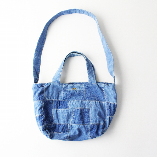 dosa ドーサ PATCHED LUNA BAG インディゴ パッチワーク 2WAY ルナバッグ スモール/ブルー【2400011911674】