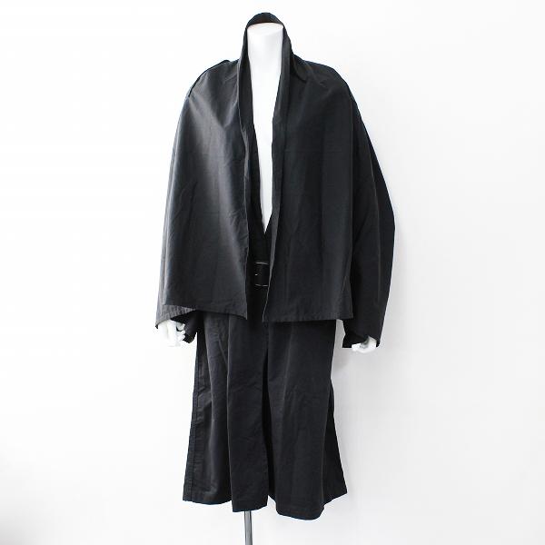 2018SS ジャーナルスタンダード luxe COVERT コヴェルト ケープトレンチコート 42/ブラック オーバーサイズ【2400011911728】-.