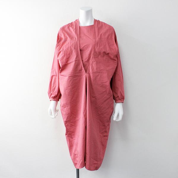 COSMIC WONDER コズミックワンダー オーガニックコットンのラップドレス 1/ピンク ギャザー ワンピース【2400011915993】