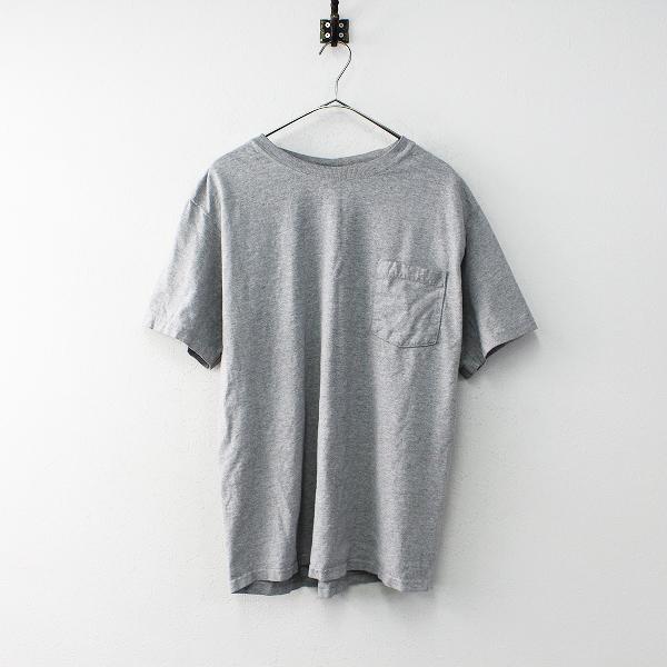 メンズ Good wear グッドウェア コットン ポケット付き Tシャツ L/グレー アメリカ製 トップス【2400011917966】