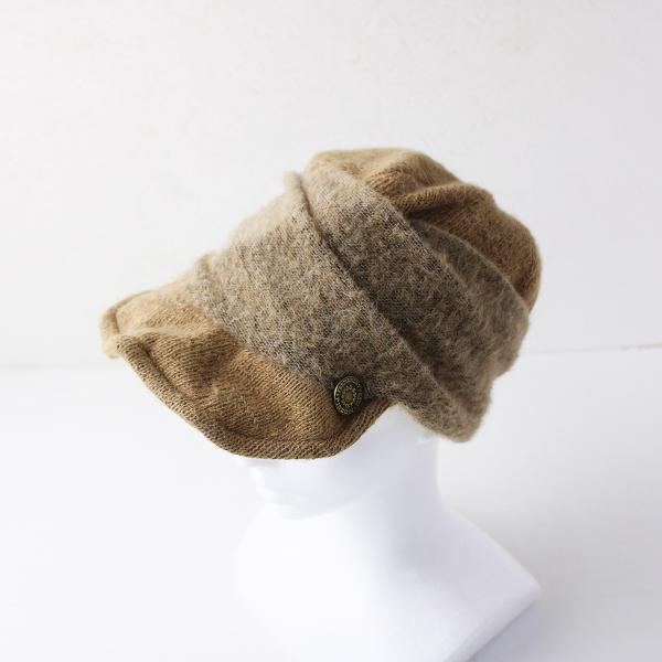 CA4LA カシラ アルパカ ウール ニット キャスケット キャップ /ブラウン 帽子 ヘア アクセサリー 小物【2400011919144】