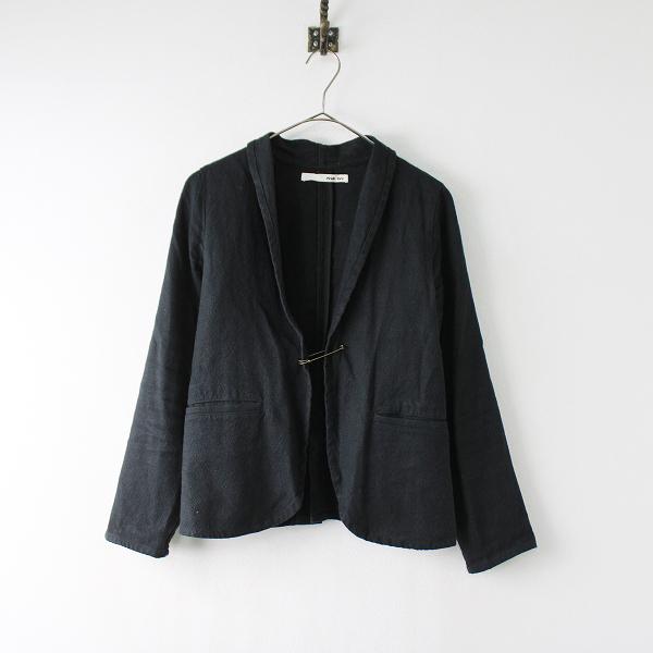 2018SS evam eva エヴァムエヴァ E181T073 linen cotton jacket リネンコットンジャケット 1/ブラック【2400011920393】