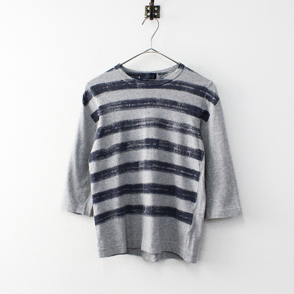 tricot COMME des GARCONS トリココムデギャルソン AD2011 ボーダー Tシャツ S/グレー トップス【2400011925534】