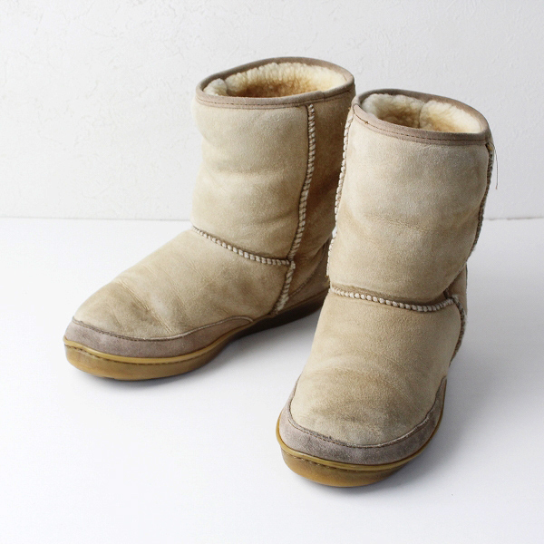 MINNETONKA ミネトンカ ムートン ブーツ 7/ベージュ 中ファー 靴【2400011926791】