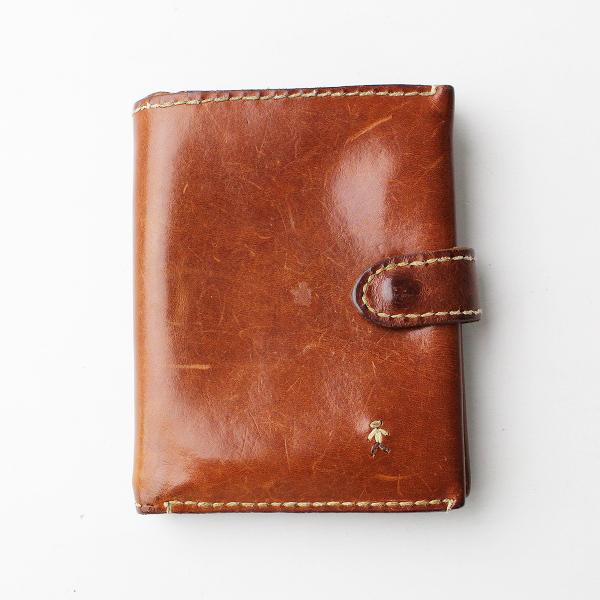 HENRY BEGUELIN エンリーベグリン レザー オミノ刺繍 二つ折り 財布 /ブラウン カードケース ジップ 刺繍 小物【2400011929563】