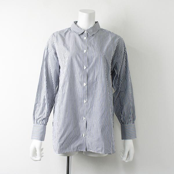 URBAN RESEARCH アーバンリサーチ ストライプ チュニックシャツ F/ネイビー×ホワイト トップス【2400011948656】