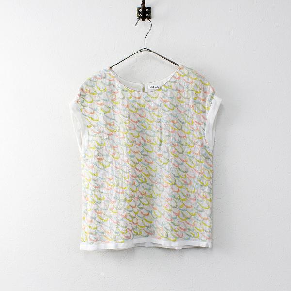 mina perhonen ミナペルホネン mousse 刺繍 リネン ブラウス 38/ホワイト トップス【2400011951557】