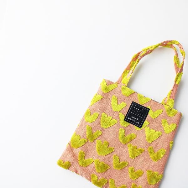 美品 mina perhonen ミナペルホネン bird garden ジャガード ミニバッグ/ピンク系 小物【2400011952554】