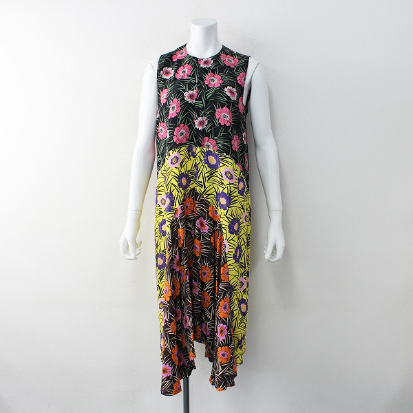 美品 2016SS 定価22.3万 MARNI マルニ Floral print sleeveless dress フローラルプリント スリーブレス ドレス 38【2400011953438】