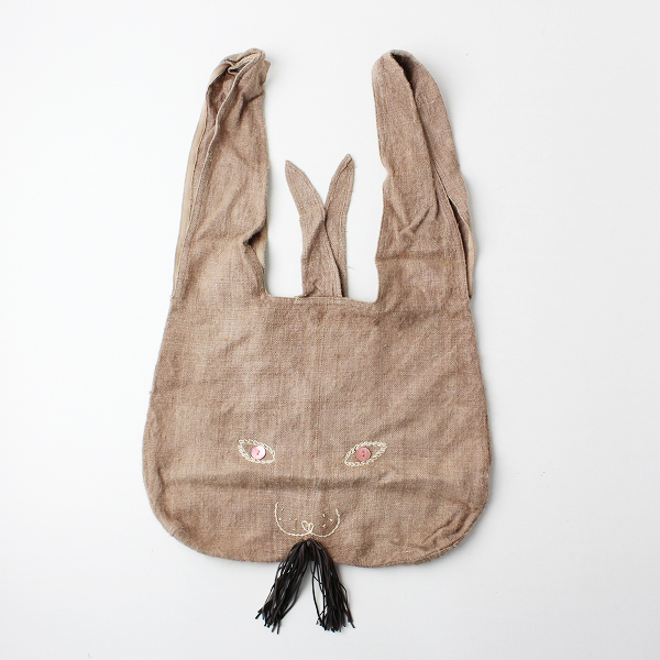 mina perhonen ミナペルホネン シルク usa bag 大/ブラウンベージュ ウサバッグ トートバッグ【2400011958174】