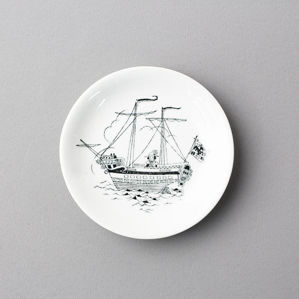 北欧 アンティーク ARABIA アラビア emilia エミリア 帆船 ミニプレート 9.5cm/食器 うつわ お皿【2400011967480】