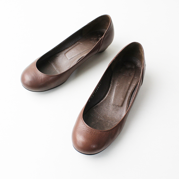 URBAN RESEARCH DOORS アーバンリサーチ ドアーズ プレーントゥ パンプス 35.5/ブラウン 靴【2400011979759】