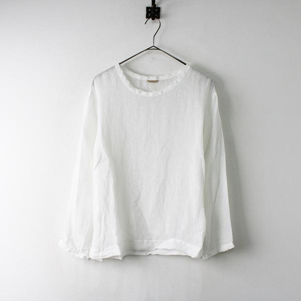 ARTS&SCIENCE アーツ&サイエンス リネン ロングスリーブ Tシャツ 1/ホワイト カットソー【2400011991324】
