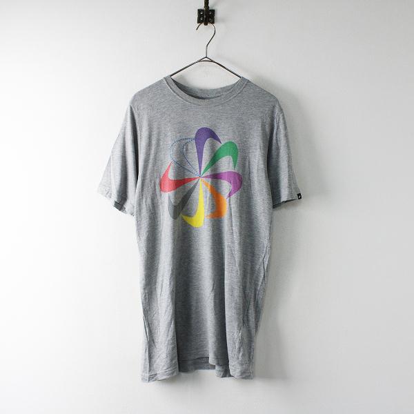 NIKE ナイキ プリント Tシャツ L/グレー メンズ カットソー【2400011997340】