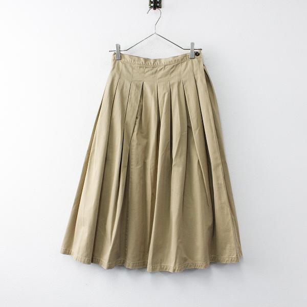 GRANDMA MAMA DAUGHTER グランマママドーター コットン チノ プリーツスカート 0/ベージュ ボトムス【2400011997678】
