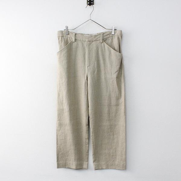 美品 2016SS SUNSEA サンシー Spec Linen Straight Pants スペックリネンストレートパンツ1/ベージュ 日本製【2400012004221】