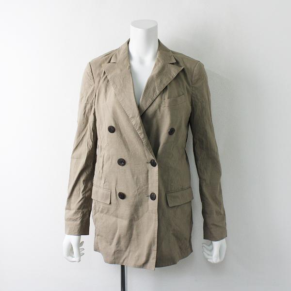 2019AW 定価5.2万 Theory セオリー DB Tailor JKT リネン ダブルブレストジャケット 2/ベージュ ボタン アウター【2400012005488】