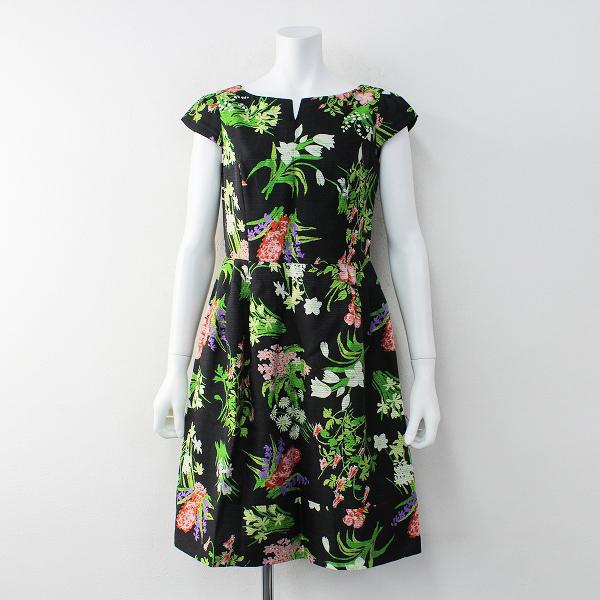 TOCCA トッカ PICTURESQUE フラワープリント ワンピース2/ブラック 花柄 ドレス【2400012013124】