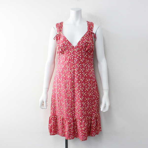 TOCCA トッカ ドット刺繍 ギャザーノースリーブワンピース ドレス 4/ピンク【2400012013193】