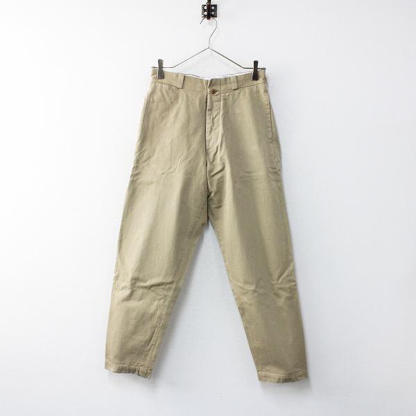 YAECA ヤエカ 166054 Chino Cloth Pants wide tapered チノクロスパンツ ワイドテーパード 29/ベージュ 【2400012014077】