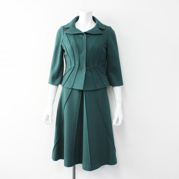 未使用品 Sybilla シビラ ウール ワンピース セットアップ M・L/グリーン スーツ ジャケット【2400012019584】