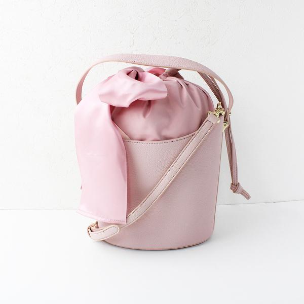 新品 Maison de FLEUR メゾンドフルール リボンバケツ バッグ/ピンク 小物 2WAY ショルダー【2400012025660】