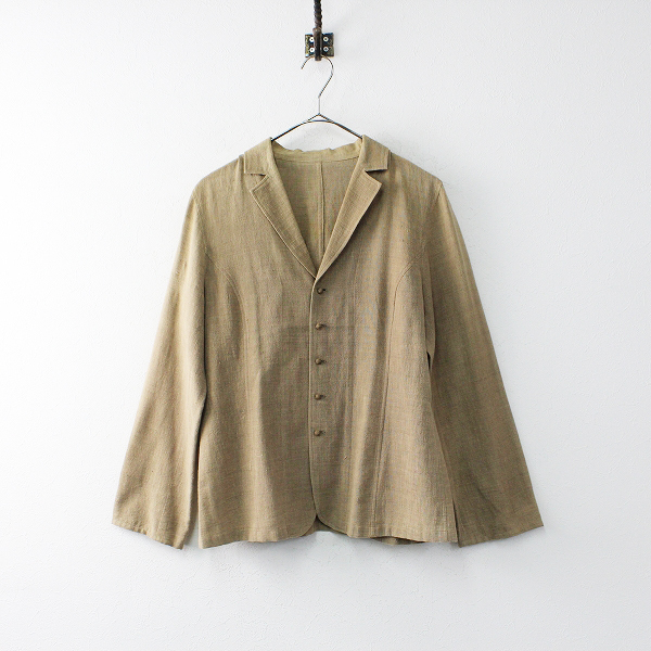 Jurgen Lehl ヨーガンレール コットン テーラード シャツジャケット M/ベージュ 羽織り【2400012026285】