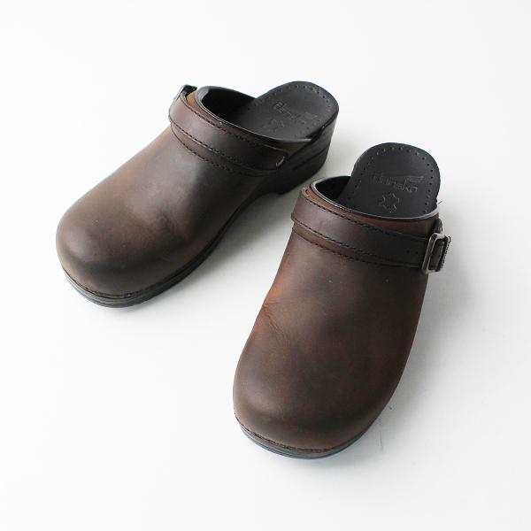 未使用品 dansko ダンスコ Ingrid イングリッド オイルドレザー サボサンダル 40/ブラウン 靴 シューズ【2400012026407】