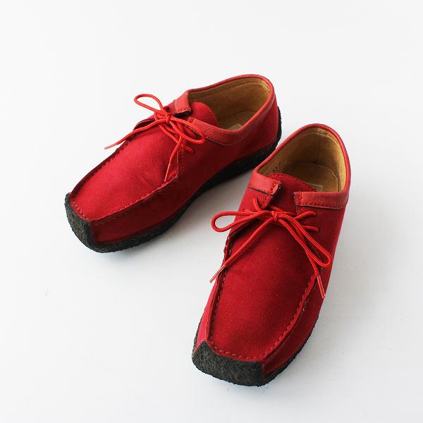 COULEUR VARIE クロールバリエ レースアップ シューズ 22.5/レッド 靴 小さいサイズ【2400012026896】