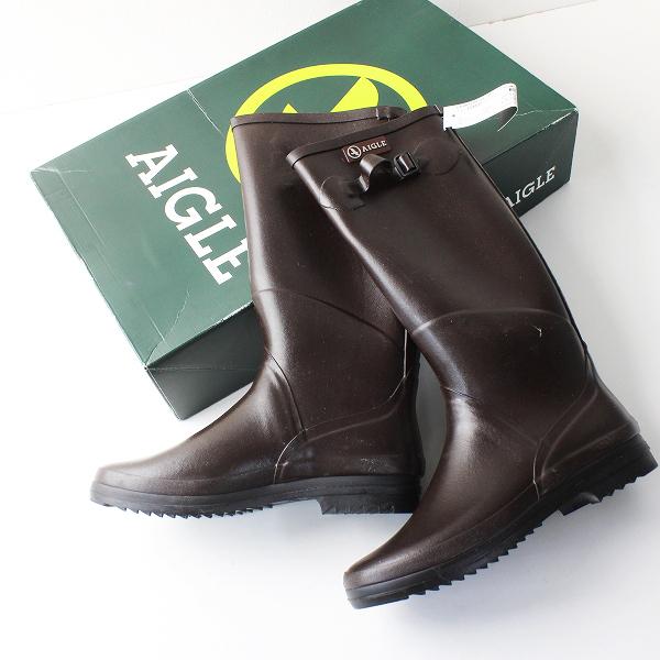 AIGLE エーグル CHANTEBELLE JP シャンタベル ラバーブーツ 39/ブラウン レインブーツ 長靴【2400012029149】