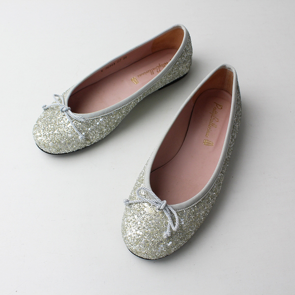 Pretty Ballerinas プリティーバレリーナ MARILYN glitter マリリン グリッター リボンバレエシューズ 39【2400012029576】