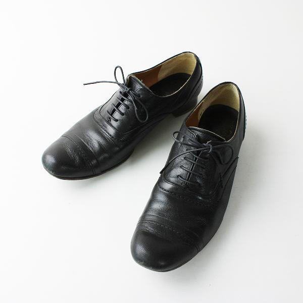 chausser ショセ レザーレースアップシューズ 38(24cm)/ブラック 【2400012029934】