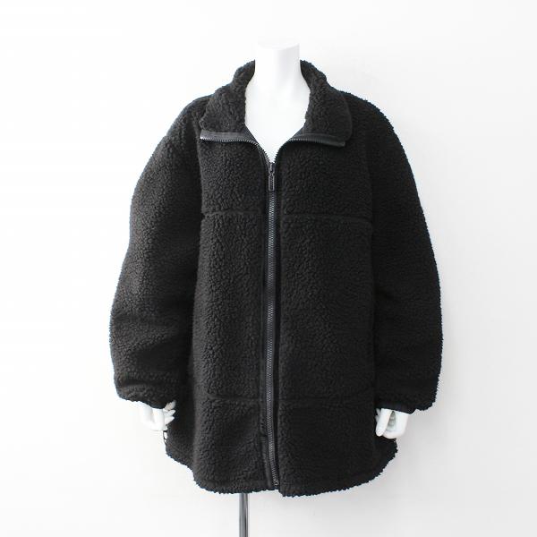 定価4.6万 L'Appartement AP STUDIO Yeti イエティ FARET OVER JACKET ボア オーバー ジャケット L/ブラック【2400012035348】