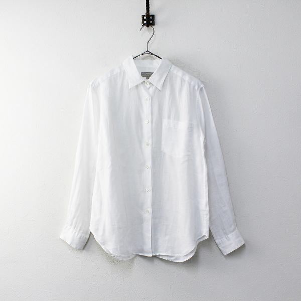 MARGARET HOWELL マーガレットハウエル リネン ロングスリーブ シャツ 1/ホワイト トップス【2400012035850】
