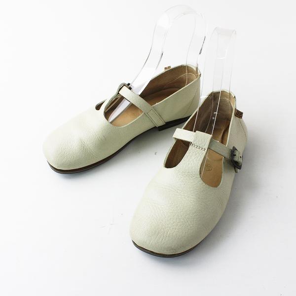 KOOS コース レザー ストラップ シューズ 36/オフホワイト 靴【2400012039568】