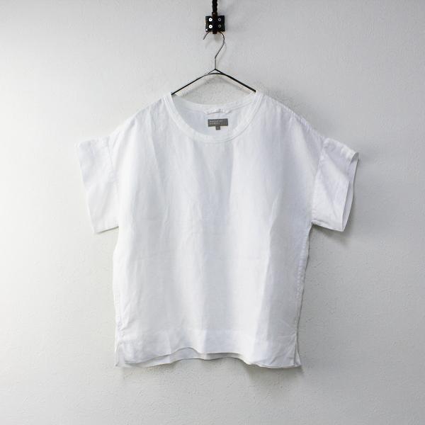 定価2.8万 2019SS MARGARET HOWELL マーガレットハウエル SHIRTING LINEN III リネン Tシャツ 1/ホワイト【2400012040199】