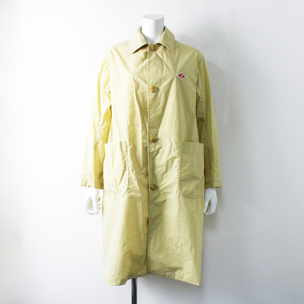 美品 2020SS 定価2.4万 DANTON ダントン × URBAN RESEACH DOORS JD-8063 NYLON TAFFETA COAT 34/イエロー【2400012043473】