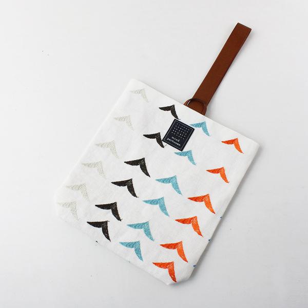 新品 2020SS mina perhonen ミナペルホネン ys9923 bird bird 刺繍 puisto bag /ホワイト トートバッグ【2400012046603】