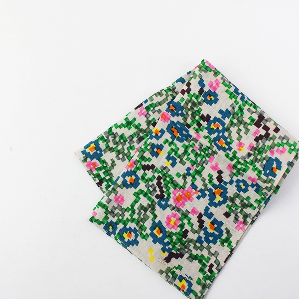 新品 新作 2020AW mina perhonen ミナペルホネン ya7475 flower bed リネン ハンカチ/ベージュ【2400012046610】