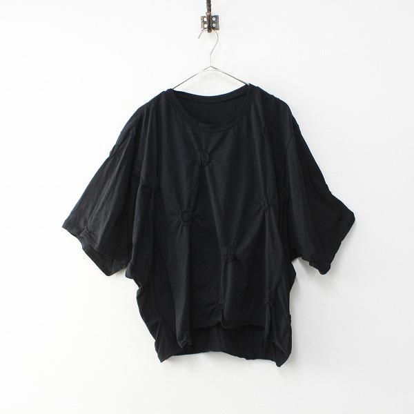 2019SS Y's Yohji Yamamoto ワイズ ヨウジヤマモト YH-T14-064 コットン オーバーサイズ ドット Tシャツ 2/ブラック【2400012060180】